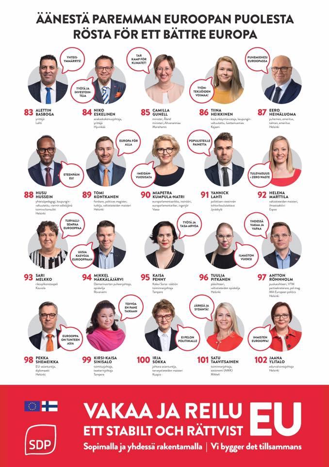 Eurovaaliehdokkaat 2019